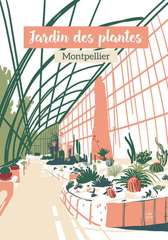 Affiche du jardin des plantes réalisée par l'illustratrice Laura Gassin