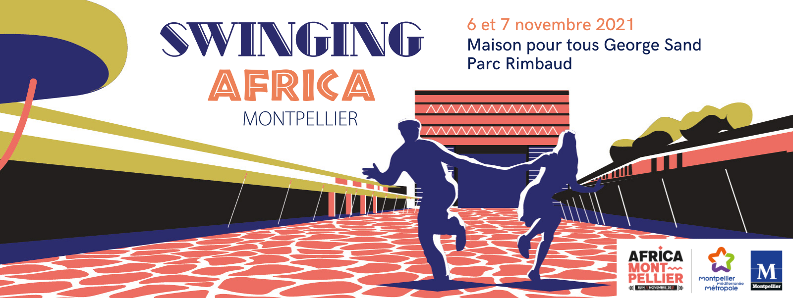 Affiche swinging africa montpellier